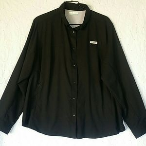 Columbia outdoor black shirt plus